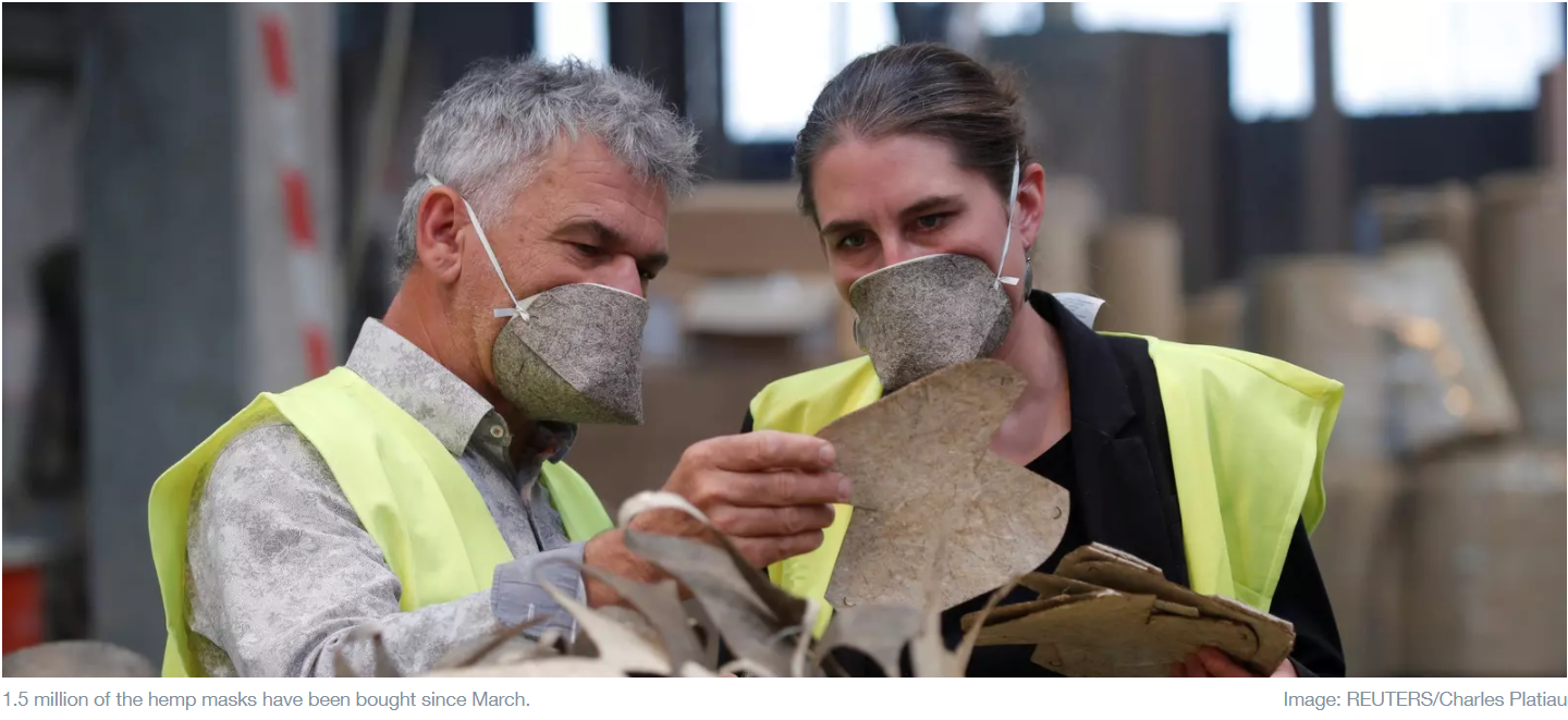 This French firm is making biodegradable face masks using hemp